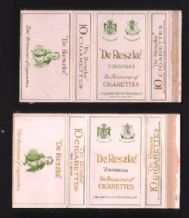 Collectable English Cigarette packet De Reszke #853